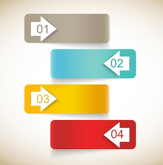 Набор абстрактной инфографики со стрелками
