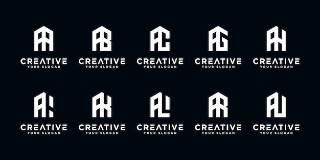 抽象的な頭文字のセットロゴテンプレート。贅沢、エレガント、シンプルなビジネスのためのアイコン。