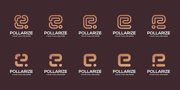 抽象的な頭文字eロゴデザインテンプレートイラストのセット