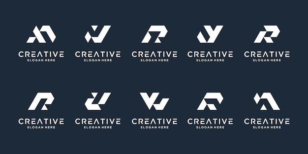 抽象的な頭文字、ロゴテンプレートのセット。