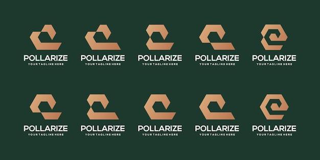 抽象的な頭文字qロゴデザインテンプレートのセット。自動車、スポーツのビジネスのためのアイコン。