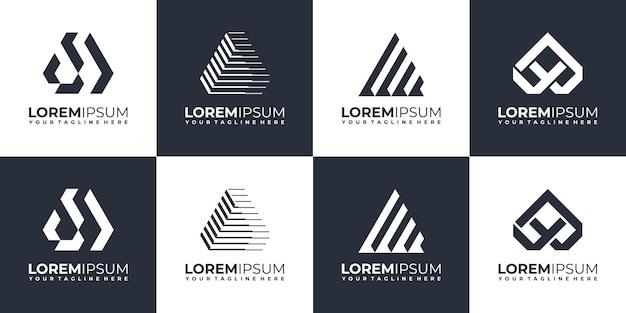 Набор абстрактных начальных вензелей дизайн логотипа