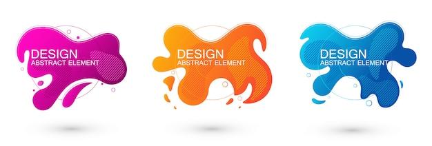 Набор графических элементов абстрактной жидкой формы.