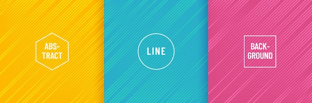 抽象的な最小限のデザインのセット斜めのストライプラインパターン