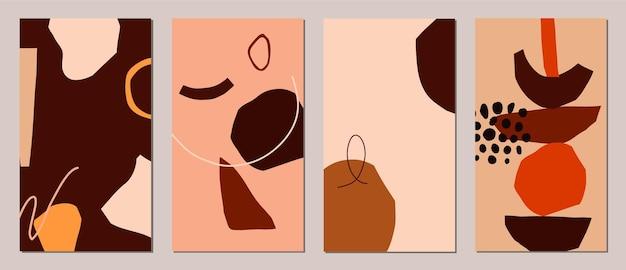 抽象的な現代カードのセット