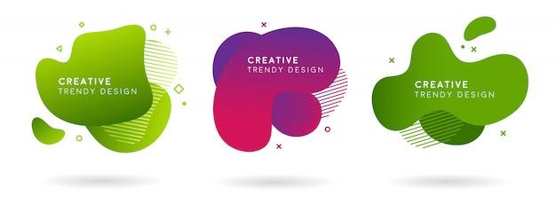 Набор абстрактных современных модных элементов графического баннера