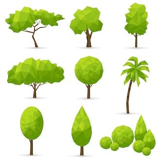 Набор абстрактных многоугольных деревьев