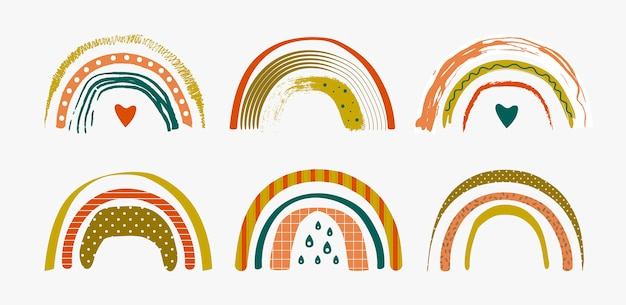 抽象的な虹のセット