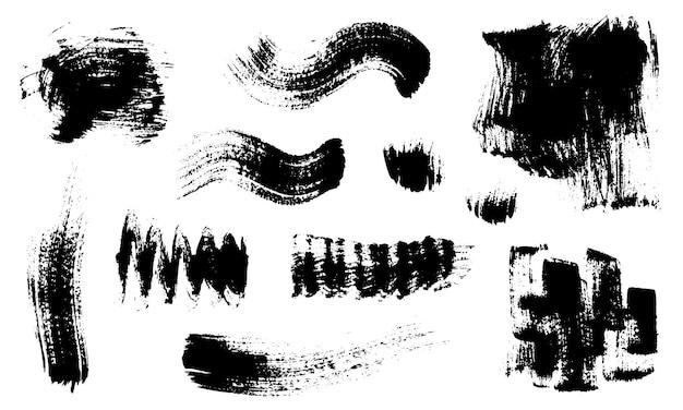 Набор абстрактных текстур, сделанных сухими мазками
