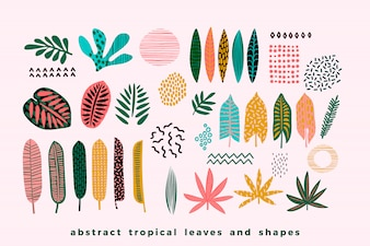 Set of abstract tropical leaves