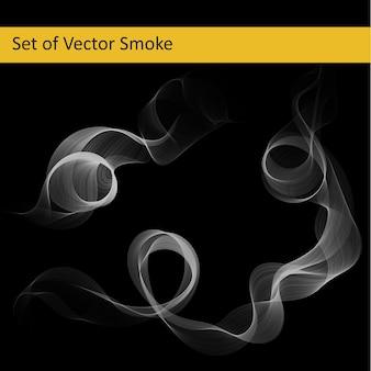 Set of abstract vector smoke