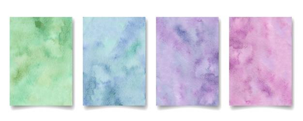 抽象的な水彩画の背景のセット