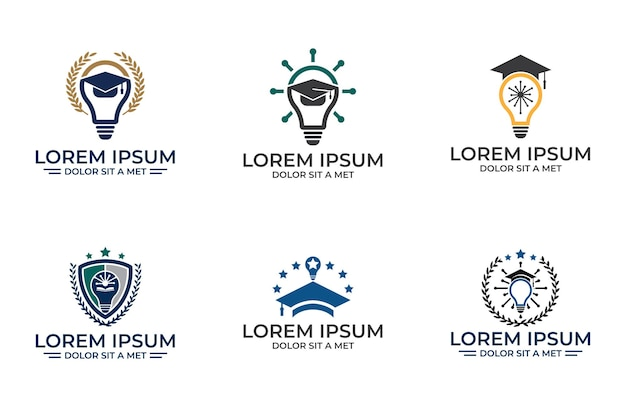 아카데미 그림 디자인 서식 파일, 흰색 배경에 고립 된 교육 아이콘 디자인의 집합