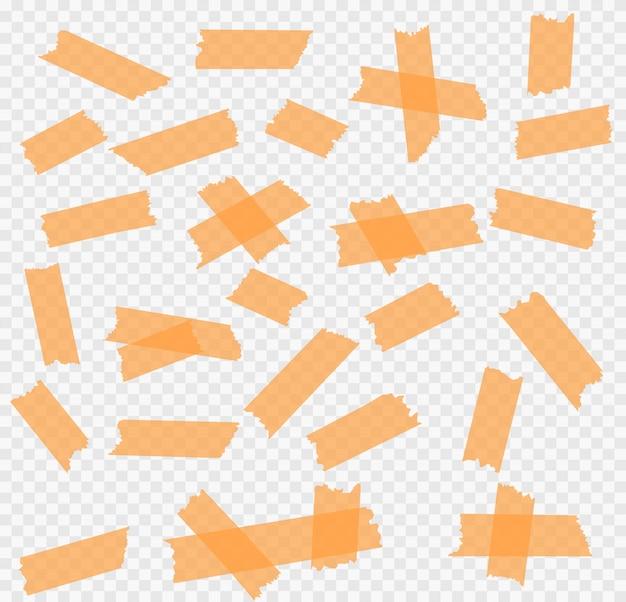 접착 테이프 조각 세트. 삽화