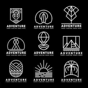 Set of adventure logo vector