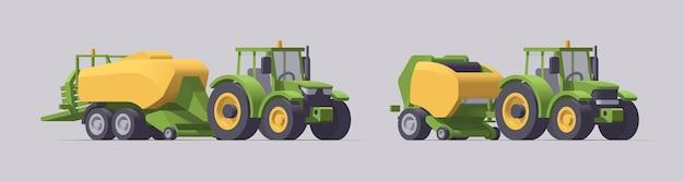 장비와 농업 기계 세트