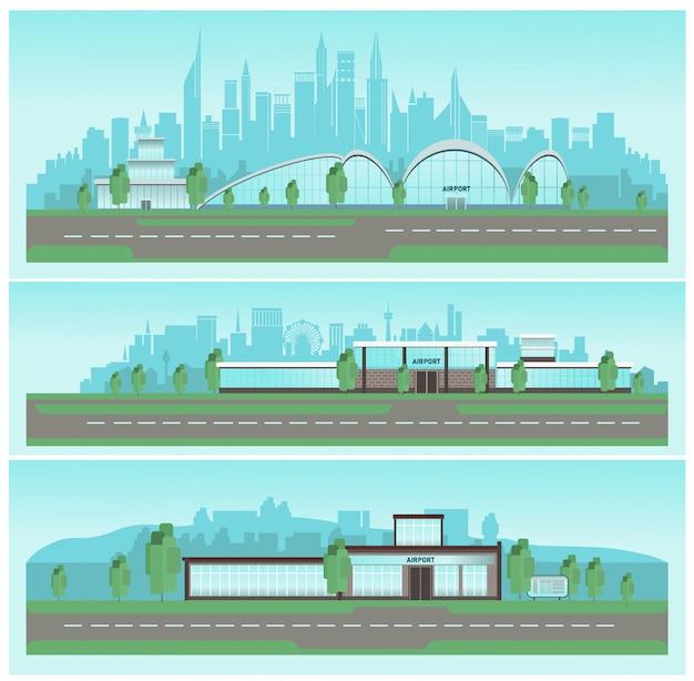 Набор конструкций аэропортов