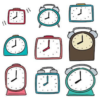 目覚まし時計のセット