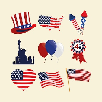 미국 독립의 세트