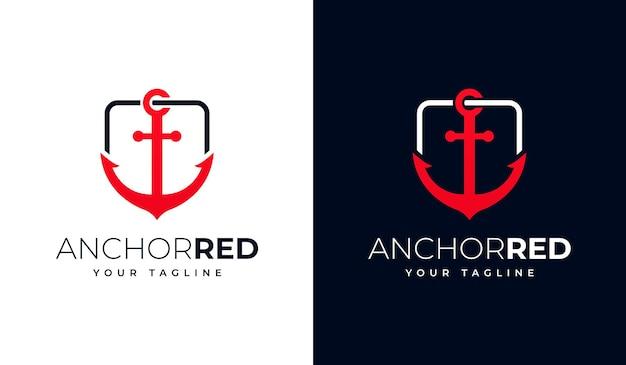 Набор креативного дизайна якорного логотипа для всех целей