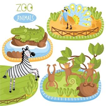 Набор животных.