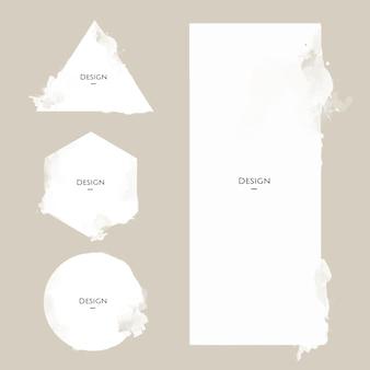 Set of Announcement Badge templates design illustration