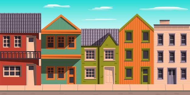 아파트 집 푸른 하늘 그림의 집합