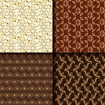 エレガントな装飾のヴィンテージアールデコのパターンのセット