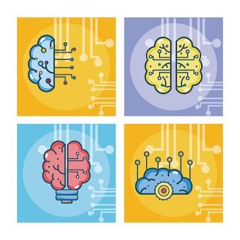 人工知能の漫画のセット