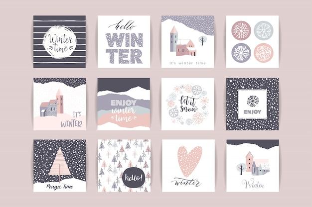Набор художественных творческих зимних карт