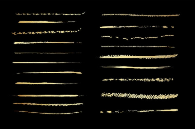 芸術的なペンブラシのセット落書きインクブラシベクトルグランジブラシのセットストロークのコレクション
