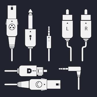Set of audio jack