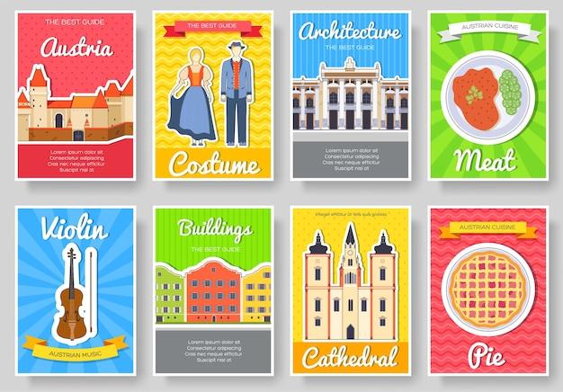 오스트리아 국가 장식 여행 여행 세트