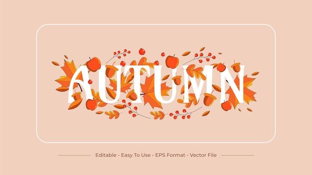 Набор осенних графических иллюстраций с ассортиментом растений и ягод