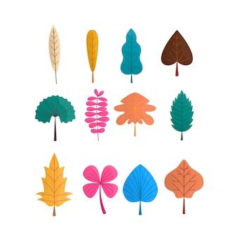 Набор осенних листьев иллюстрации