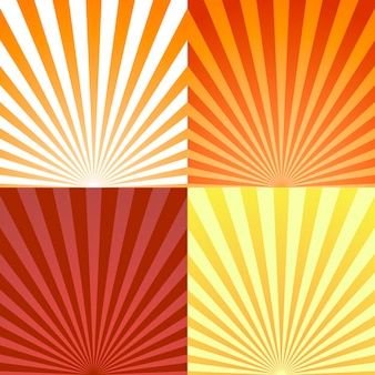 Set of backgrounds with sun rays