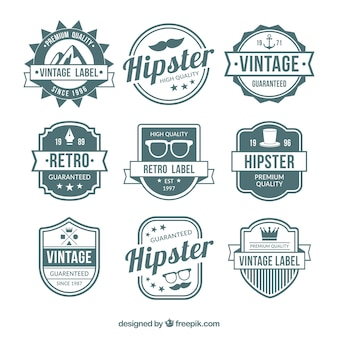 Set of badges in vintage style