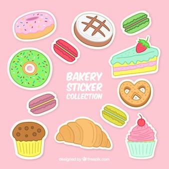 과자 및 빵 베이커리 스티커 세트