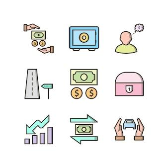 Набор иконок банковских набор