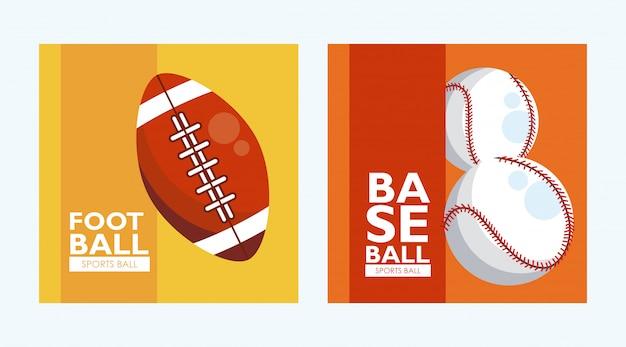 Набор баннеров со спортивными мячами