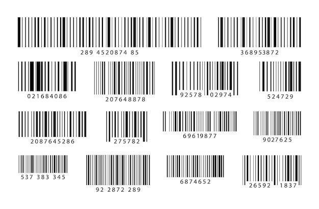 Набор штрих-кодов промышленный код штрихов