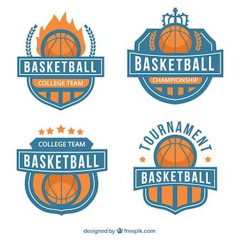 バスケットボールのバッジのセット