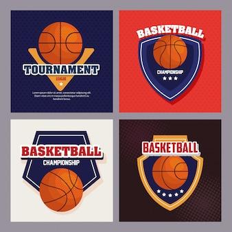 농구 엠 블 럼 세트, 아이콘으로 농구 선수권 대회 디자인