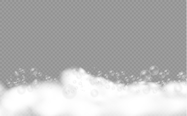 シャボン玉のシャボン玉またはシャンプーの泡が泡のテクスチャをオーバーレイするバスフォームのセット