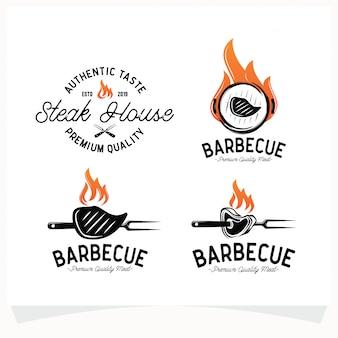 Набор для барбекю стейк гриль хаус логотип