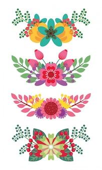 Множество красивых букетов цветов оставляет естественное художественное оформление