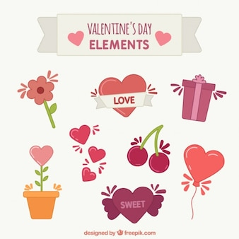 Set of beautiful love elements
