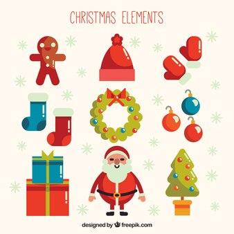 Set of beautiful ornaments in flat design