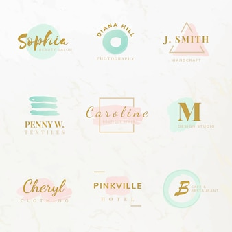 Набор векторов дизайна для дизайна одежды и моды