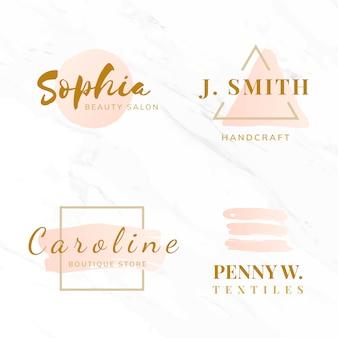 美しさとファッションのロゴデザインベクトルのセット